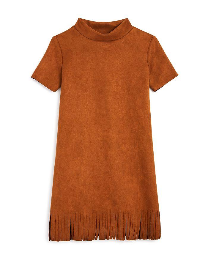 AQUA - Girls' Fringed Faux Suede Dress, Big Kid - 100% Exclusive