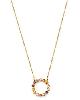 """Bloomingdale's - Rainbow Sapphire Circle Pendant Necklace in 14K Yellow Gold, 18"""" - 100% Exclusive"""