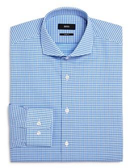 BOSS - Mark Dobby-Check Regular Fit Dress Shirt