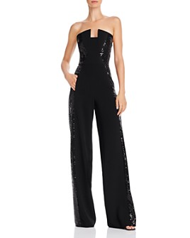 Black Halo - Lena Notched Strapless Sequin Jumpsuit - 100% Exclusive