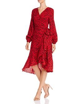 O.P.T - Agatha Cheetah Print Wrap Dress