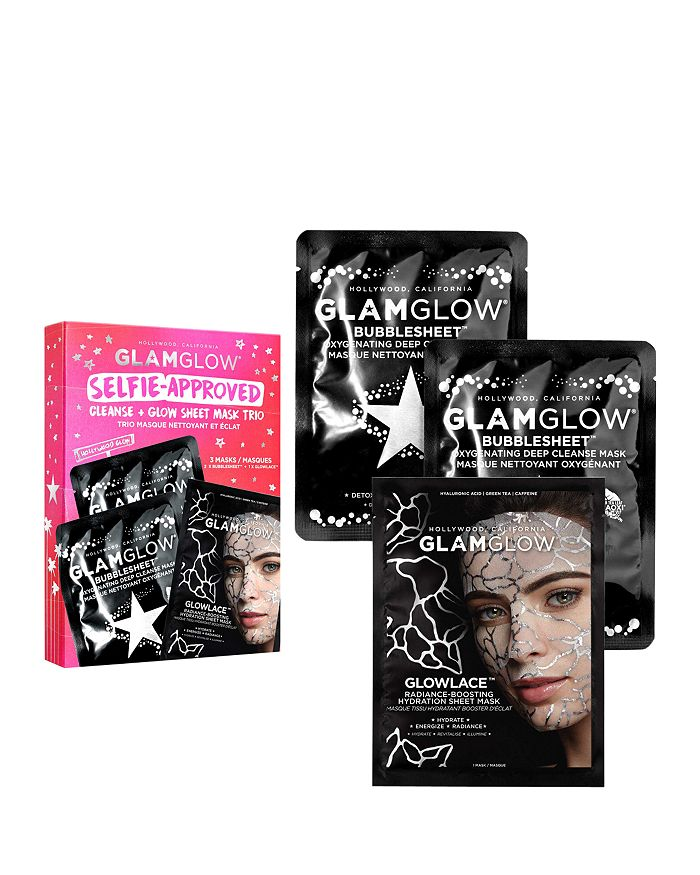 GLAMGLOW - Selfie-Approved Cleanse + Glow Sheet Mask Trio ($28 value)