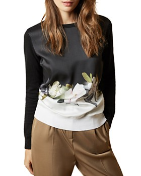 Ted Baker - Bellae Floral Print Combo Sweater