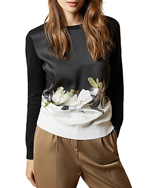Ted Baker Sweaters BELLAE FLORAL PRINT COMBO SWEATER