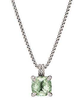 David Yurman - Sterling Silver Châtelaine Pendant Necklace with Gemstones & Diamonds, 11mm