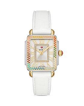 MICHELE - Deco Mid Rainbow Diamond Watch, 29mm x 31mm