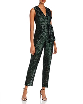 MILLY - Sequin Tie-Waist Jumpsuit