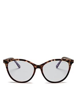 Quay - Women's Quay x Chrissy Teigen All Nighter Cat Eye Blue Light Glasses, 50mm