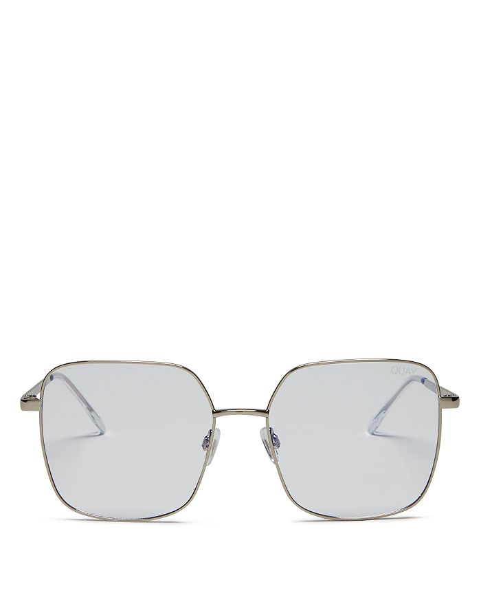 Quay - Women's Cheat Sheet Square Blue Light Glasses, 58mm