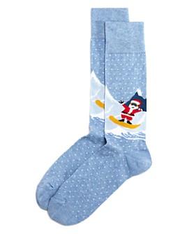 The Men's Store at Bloomingdale's - Snowboard Santa Socks - 100% Exclusive