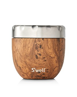 S'well - Eats Large Teakwood-Look Food Storage Container