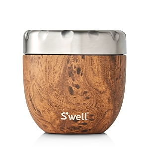 S'well Eats Large Teakwood-Look Food Storage Container