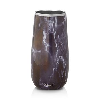 S'well - Black Marble Champagne Flute, 6 oz.