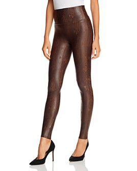 SPANX® - Snake-Print Faux Leather Leggings