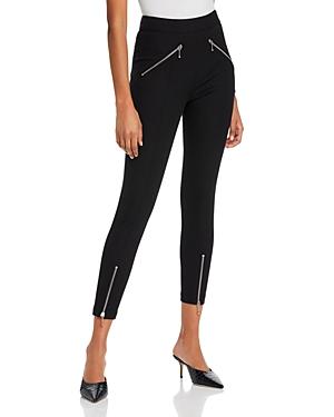 alexanderwang.t Super Stretch Cotton Denim Pants with Zipper Details