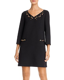 PAULE KA - Simulated Gem-Embellished Tunic Dress