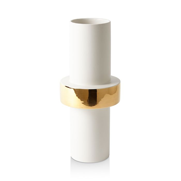 Global Views - Midline Goldtone-Ring Vase