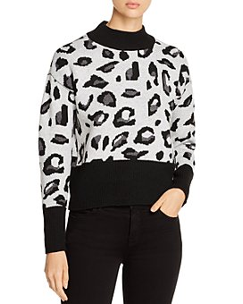 Design History - Mock-Neck Leopard Sweater