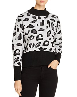 Design History - Mock-Neck Leopard Sweater