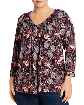 Daniel Rainn Plus - Pintucked Peasant Blouse