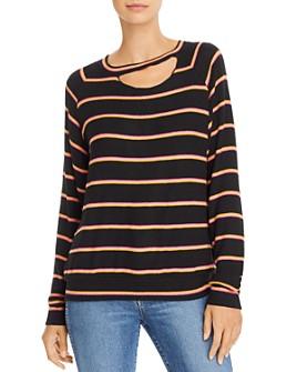 LNA - Zora Cutout Striped Sweater