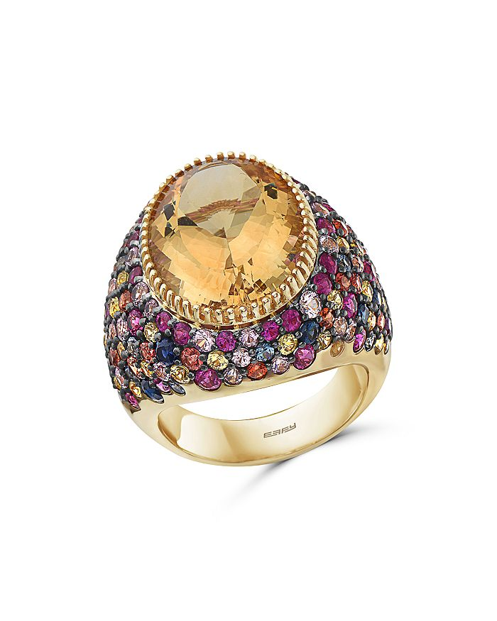 Bloomingdale's - Rainbow Gemstone Statement Ring in 14K Yellow Gold - 100% Exclusive