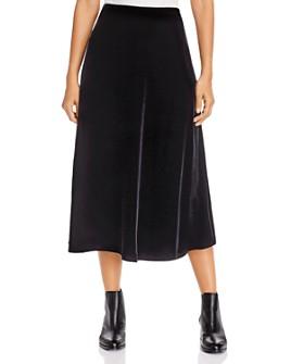 Eileen Fisher - A-Line Velvet Midi Skirt