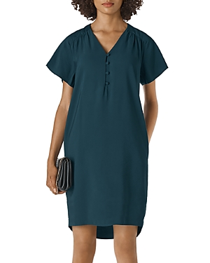 Whistles Clio Button Front Shift Dress