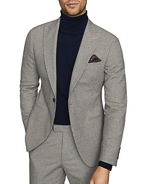 Reiss Butler Micro-Tattersall Slim Fit Blazer
