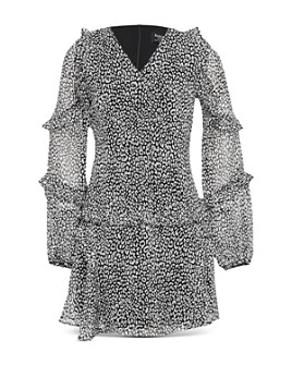 Bardot Junior - Girls' Mimi Ruffled Leopard Dress - Big Kid