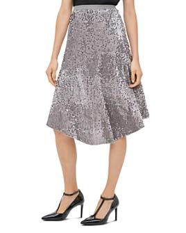 Calvin Klein - Sequined Velour Midi Skirt