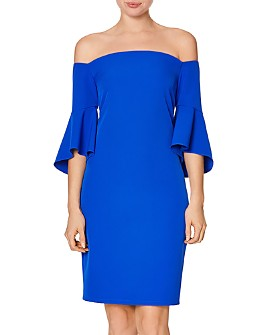 Laundry by Shelli Segal - Off-the-Shoulder Bell Sleeve Dress