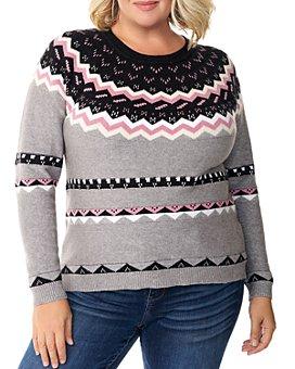 Belldini Plus - Fair Isle Jacquard Sweater
