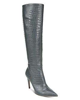 Sam Edelman - Women's Fraya Croc-Embossed Tall High-Heel Boots
