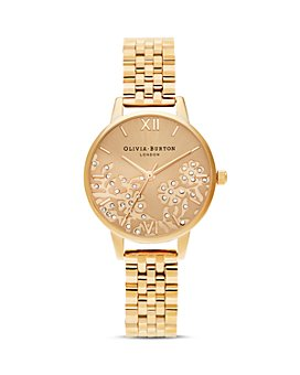 Olivia Burton - Bejeweled Lace Bracelet Watch, 30mm