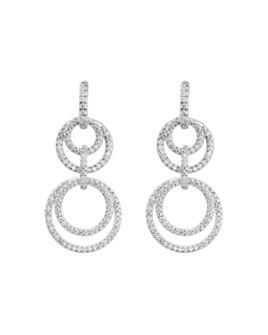 Gumuchian - 18K White Gold Moon Phase Diamond Convertible Drop Earrings