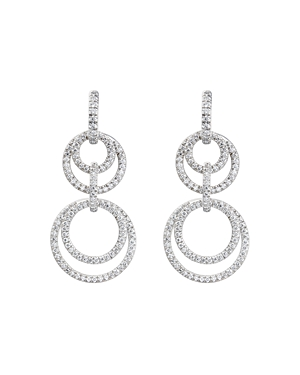 Gumuchian 18K White Gold Moon Phase Diamond Convertible Drop Earrings
