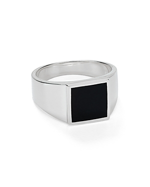 Argento Vivo Square Onyx Signet Ring in Sterling Silver-Jewelry & Accessories