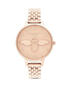 Olivia Burton - Glitter Dial Link Bracelet Watch, 34mm