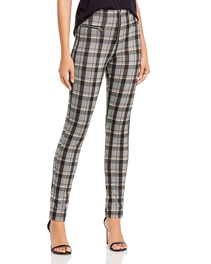 Tiger Mist - Pearl Plaid Skinny Pants