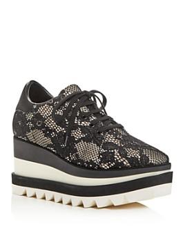 Stella McCartney - Women's Tess Square-Toe Platform Wedge Sneakers