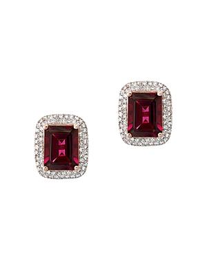 Bloomingdale's Rhodolite & Diamond Stud Earrings in 14K Rose Gold - 100% Exclusive