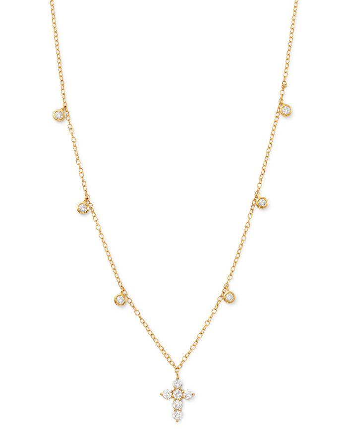 Bloomingdale's Diamond Cross Pendnat Necklace in 14K Yellow Gold, 0.50 ct. t.w. - 100% Exclusive    Bloomingdale's