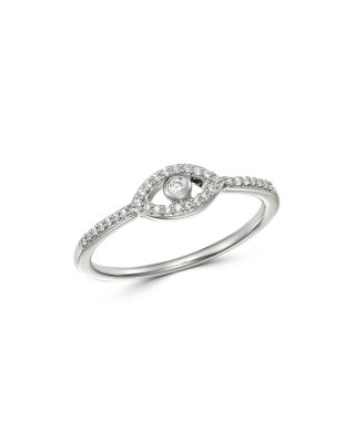 14K White Gold Engagement 0.10ct one diamond Ring Size 7