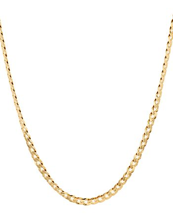 """Argento Vivo - Flat Curb Chain Necklace in 18K Gold-Plated Sterling Silver, 16"""""""