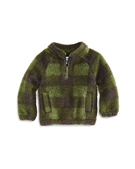 Splendid - Boys' Plaid Sherpa Sweatshirt - Baby
