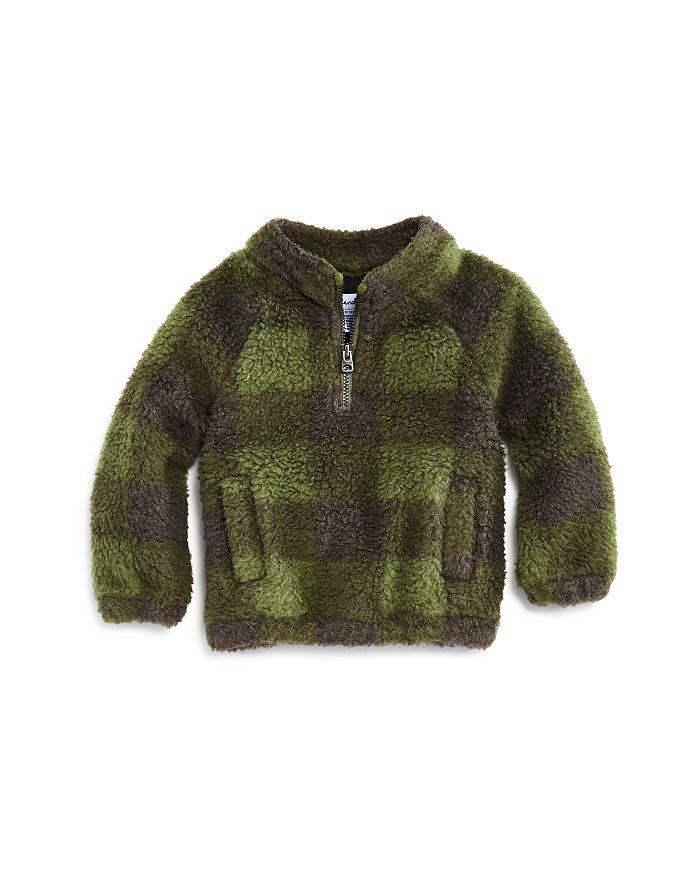 Splendid - Boys' Plaid Sherpa Sweatshirt - Baby