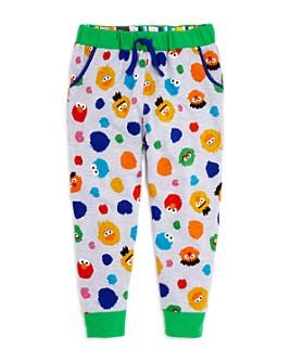 Isaac Mizrahi Loves Sesame Street - Unisex Character Print Jogger Pants, Little Kid - 100% Exclusive