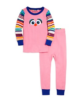 Isaac Mizrahi Loves Sesame Street - Girls' Abby Tee & Pants Pajama Set, Baby, Little Kid - 100% Exclusive