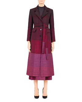 Mary Katrantzou - Beatrice Plaid Virgin Wool-Blend Coat